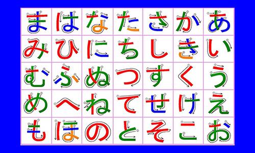 hiragana tablica