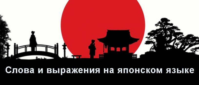 Слова и выражения на японском языке — база которую надо знать.